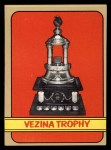 1972 Topps #173   Vezina Trophy Front Thumbnail