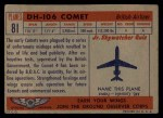 1957 Topps Planes #81 RED  Dh-106 Comet Back Thumbnail