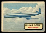 1957 Topps Planes #81 RED  Dh-106 Comet Front Thumbnail