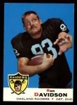 1969 Topps #128  Ben Davidson  Front Thumbnail