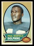 1970 Topps #135  Paul Warfield  Front Thumbnail
