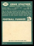 1960 Topps #101  Ernie Stautner  Back Thumbnail
