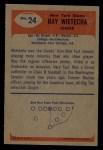 1955 Bowman #24  Ray Wietecha  Back Thumbnail