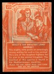 1957 Topps Isolation Booth #23   Smallest Land Animal Back Thumbnail