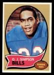 1970 Topps #90  O.J. Simpson  Front Thumbnail