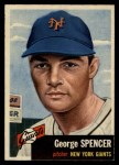 1953 Topps #115  George Spencer  Front Thumbnail