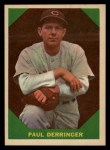1960 Fleer #43  Paul Derringer  Front Thumbnail