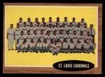 1962 Topps #61   Cardinals Team Front Thumbnail