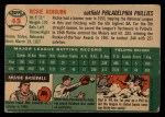 1954 Topps #45  Richie Ashburn  Back Thumbnail