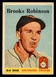 1958 Topps #307  Brooks Robinson  Front Thumbnail