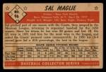 1953 Bowman #96  Sal Maglie  Back Thumbnail