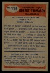 1955 Bowman #115  Bob Thomason  Back Thumbnail