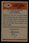 1955 Bowman #49  Kline Gilbert  Back Thumbnail