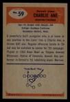 1955 Bowman #59  Charlie Ane  Back Thumbnail