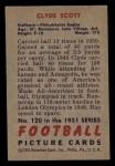 1951 Bowman #120  Clyde Scott  Back Thumbnail