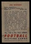 1951 Bowman #133  Joe Watson  Back Thumbnail