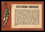 1966 A and BC England Battle #48   Exploding Grenade Back Thumbnail