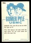 1965 Fleer Gomer Pyle #51   Do You Always Turn Green Back Thumbnail
