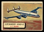 1957 Topps Planes #55 RED  Lockheed 1049-G Front Thumbnail