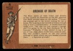 1966 A and BC England Battle #4   Grenade Of Death Back Thumbnail