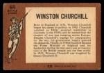 1966 A and BC England Battle #66   Winston Churchill Back Thumbnail