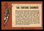 1966 A and BC England Battle #44   The Torture Chamber Back Thumbnail