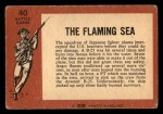 1966 A and BC England Battle #40   The Flaming Sea Back Thumbnail