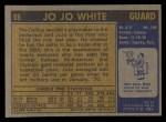1971 Topps #69  Jo Jo White   Back Thumbnail