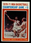 1971 Topps #135   NBA Playoffs Game #3 Front Thumbnail