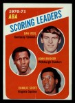 1971 Topps #146   -  John Brisker / Dan Issel / Charlie Scott ABA Scoring Leaders Front Thumbnail