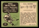 1970 Topps #109  Mike Walton  Back Thumbnail