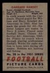 1951 Bowman #28  Garrard Ramsey  Back Thumbnail