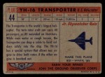 1957 Topps Planes #44 RED  Yh-16 Transporter Back Thumbnail