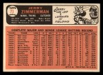 1966 Topps #73 xSTR Jerry Zimmerman   Back Thumbnail