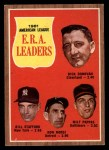 1962 Topps #55   -  Dick Donovan / Bill Stafford / Don Mossi / Milt Pappas AL ERA Leaders Front Thumbnail