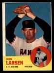 1963 Topps #163  Don Larsen  Front Thumbnail