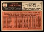 1966 Topps #150  Rocky Colavito  Back Thumbnail