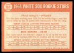 1964 Topps #368   -  Don Buford / Fritz Ackley White Sox Rookies Back Thumbnail