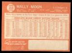 1964 Topps #353  Wally Moon  Back Thumbnail
