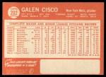 1964 Topps #202  Galen Cisco  Back Thumbnail