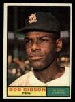 1961 Topps #211  Bob Gibson  Front Thumbnail