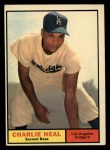 1961 Topps #423  Charlie Neal  Front Thumbnail
