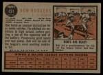 1962 Topps #431  Bob Rodgers  Back Thumbnail