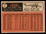1966 Topps #109  Ralph Terry  Back Thumbnail
