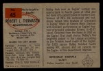 1954 Bowman #45  Bob Thomason  Back Thumbnail