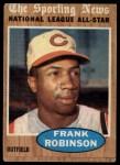 1962 Topps #396   -  Frank Robinson All-Star Front Thumbnail