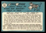 1965 Topps #163  Johnny Briggs  Back Thumbnail