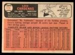 1966 Topps #370  Leo 'Chico' Cardenas  Back Thumbnail