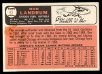 1966 Topps #43 DRK Don Landrum  Back Thumbnail