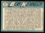 1965 Topps #457  Bob Kennedy  Back Thumbnail